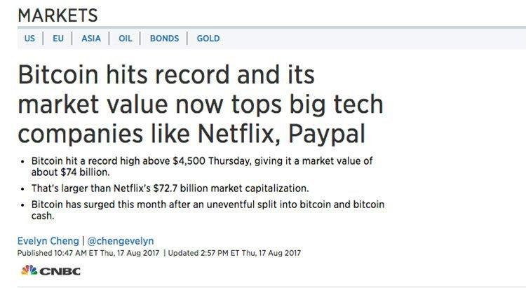 Bitcoin netflix