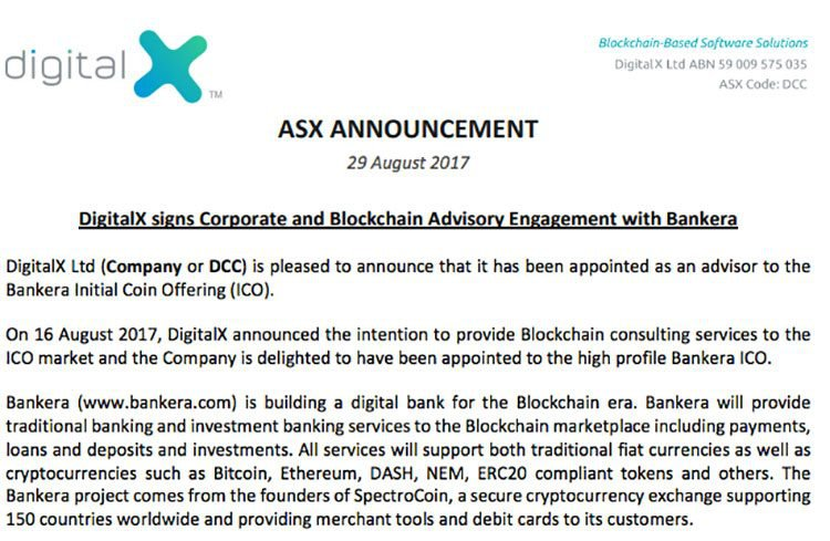 DigitalX Bankera deal