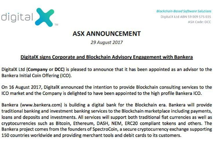 DigitalX Bankera deal