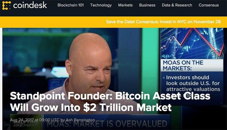 Bitcoin trillion dollar market