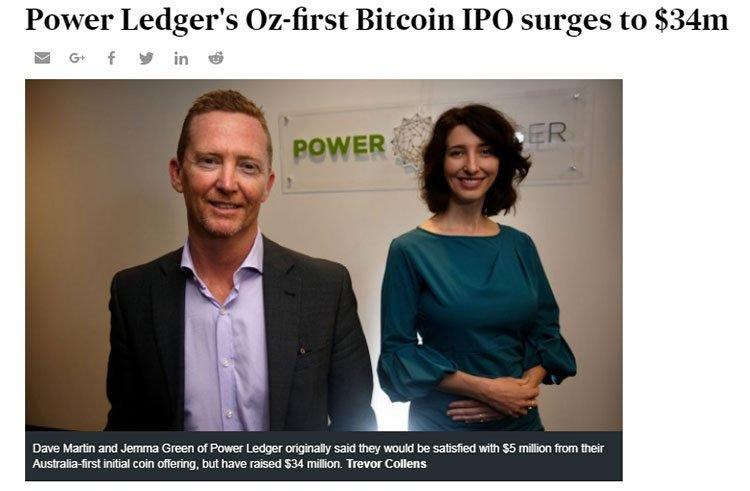 Power ledger bitcoin IPO