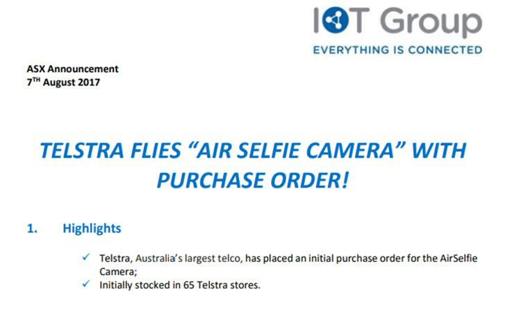 Airselfie camera