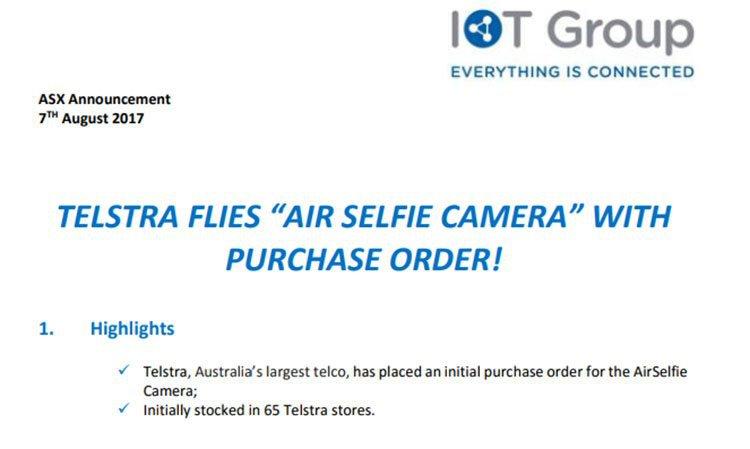 Airselfie camera