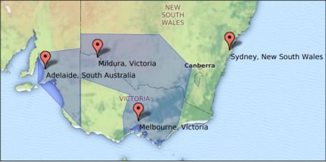 CLI's target geograph the 'Southern Regions' showing the location of Mildura, Victoria.
