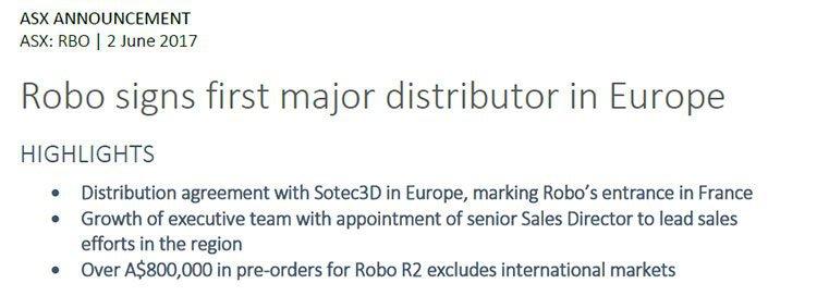 Robo ASX announcement