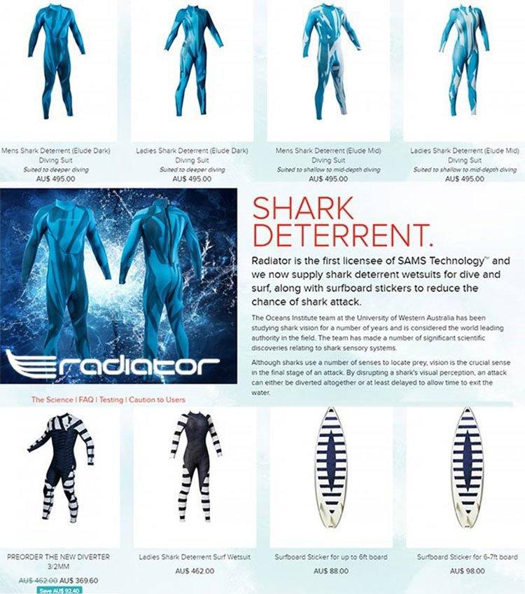 Shark deterrent suit