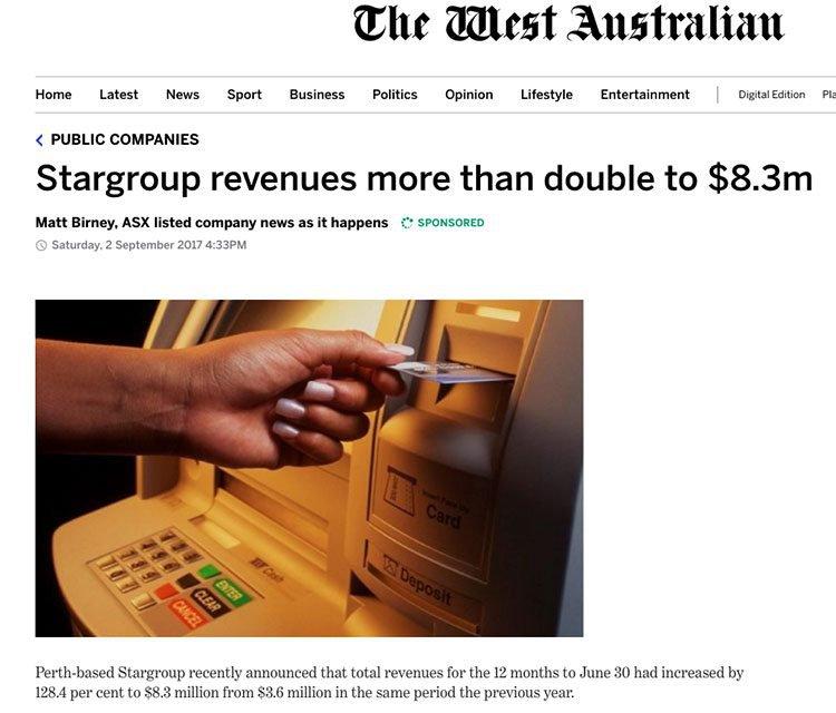 Stargroup revenue