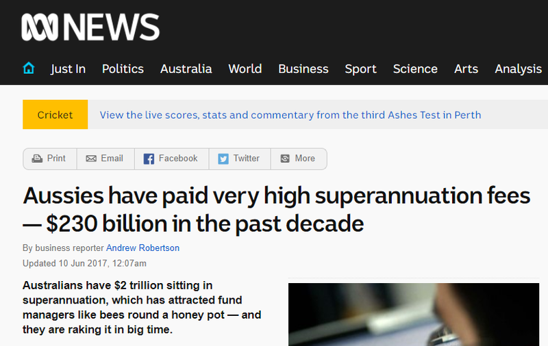 Australian superannuation fees