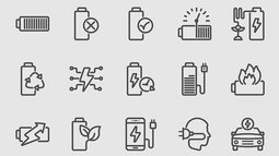 Battery power and Energy line icon