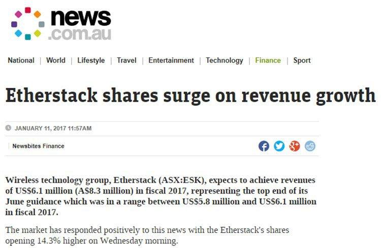 etherstack revenue growth