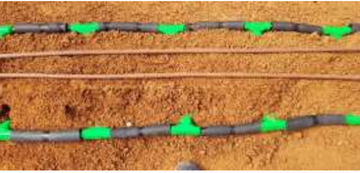 Roots' newly developed stub for heat exchange in the ground.