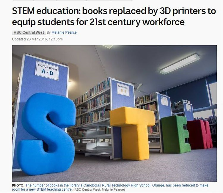 Books replaced by 3d printers