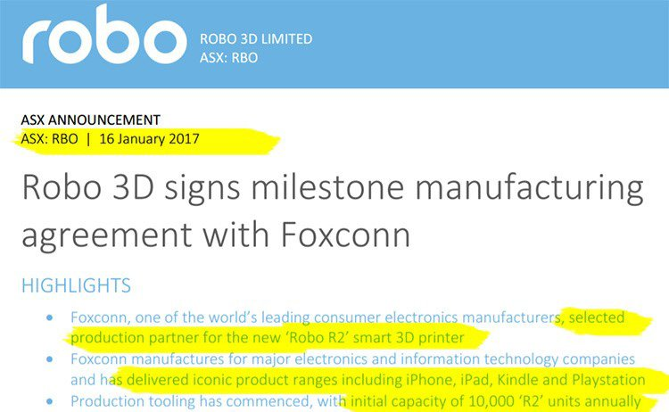 Agreement with Foxconn